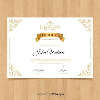Modello di certificato ornamentale