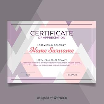 Modello di certificato piatto professionale