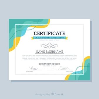 Modello di certificato piatto