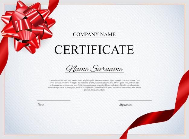 Modello di certificato sullo sfondo.