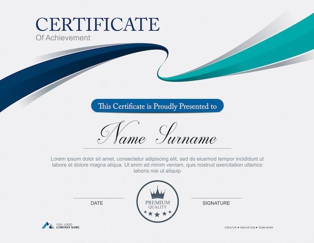 Modello di certificato vettoriale
