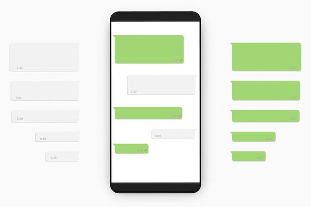 Modello di chat mobile