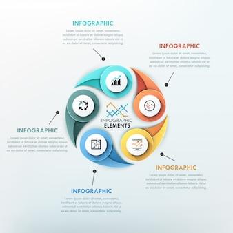 Modello di ciclo infografica moderna