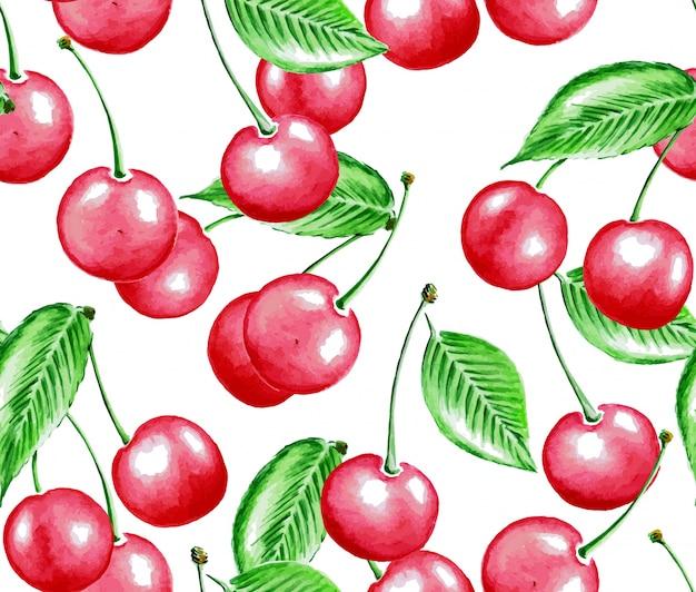 Modello di ciliegio ad acquerello