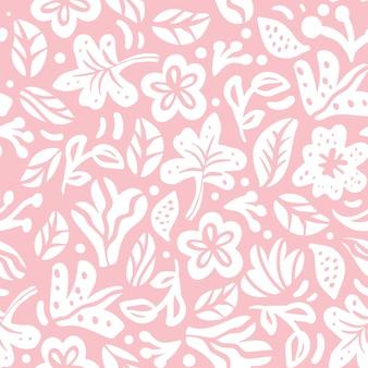 Modello di colore floreale senza soluzione di continuità. stile classico vintage decorativo con fiori e forme astratte