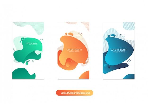 Modello di colore liquido bacgkround e instagram