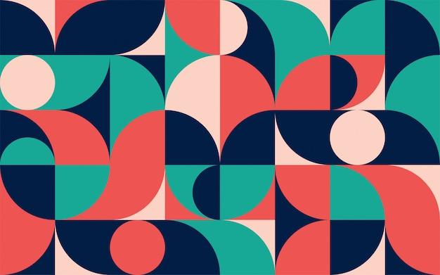 Modello di composizione di colore minimalista geometrico con forme. modello astratto scandinavo per banner web, packaging, branding.
