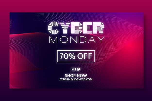 Modello di concetto di cyber lunedì