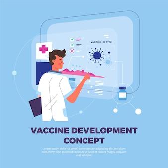 Modello di concetto di sviluppo del vaccino