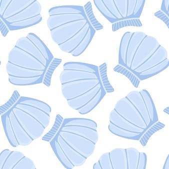Modello di conchiglie blu