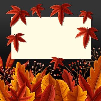 Modello di confine con foglie cadute
