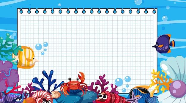 Modello di confine con scena subacquea