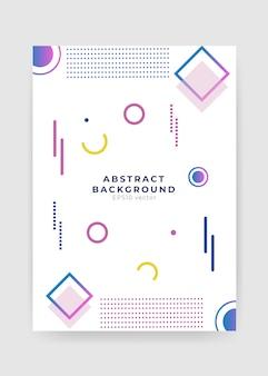 Modello di copertina astratto geometrico