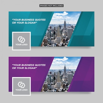 Modello di copertina aziendale aziendale facebook premium vector