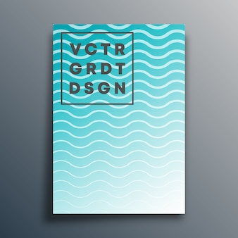 Modello di copertina con linee ondulate per flyer, poster, brochure, tipografia o altri prodotti di stampa.