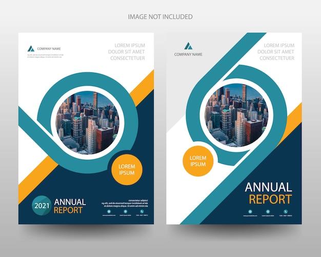 Modello di copertina dell'opuscolo dell'opuscolo dell'aletta di filatoio del rapporto annuale di affari