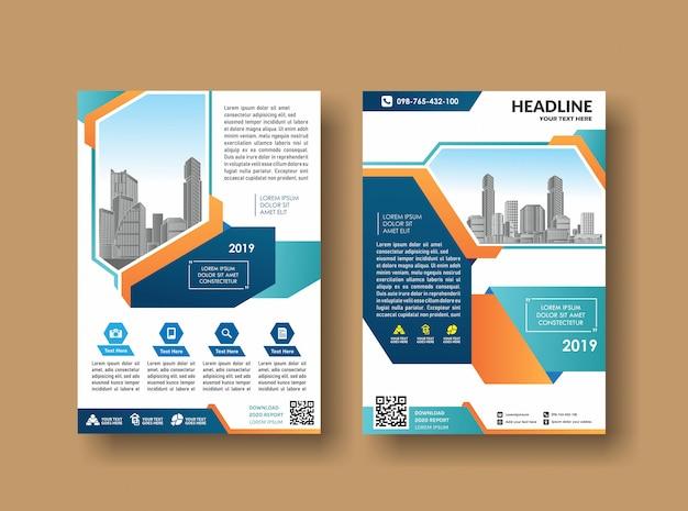 Modello di copertina design brochure aziendale
