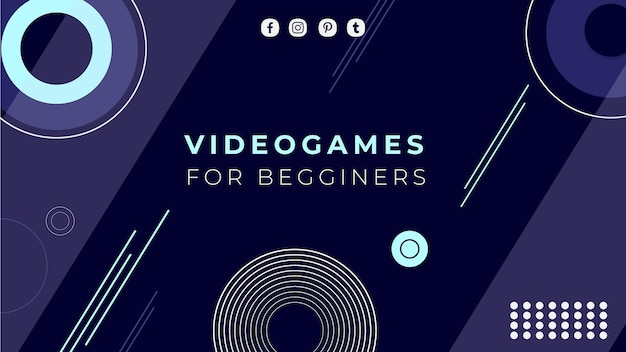 Modello di copertina di youtube per videogiochi