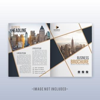 Modello di copertina e volantino multiuso moderno business