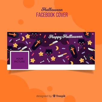Modello di copertina facebook di halloween