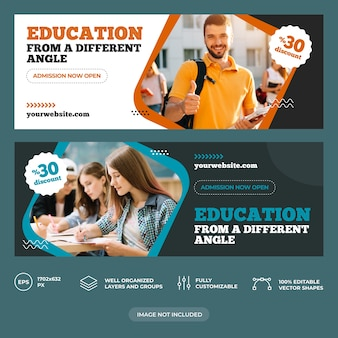 Modello di copertina facebook istruzione