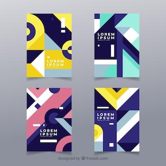 Modello di copertina moderna con design geometrico