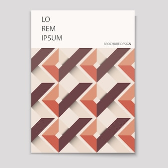 Modello di copertina moderna con disegno geometrico