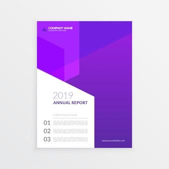 Modello di copertina moderna relazione annuale