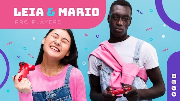 Modello di copertina per youtube del videogioco