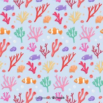Modello di corallo disegnato a mano
