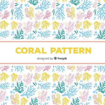 Modello di corallo piatto