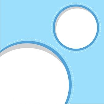 Modello di cornice blu ciricle