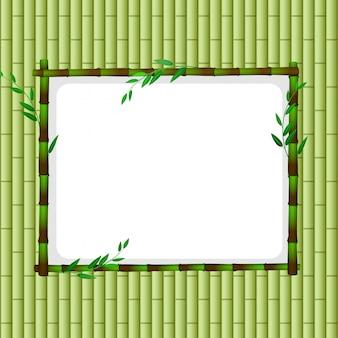 Modello di cornice con bambù verde