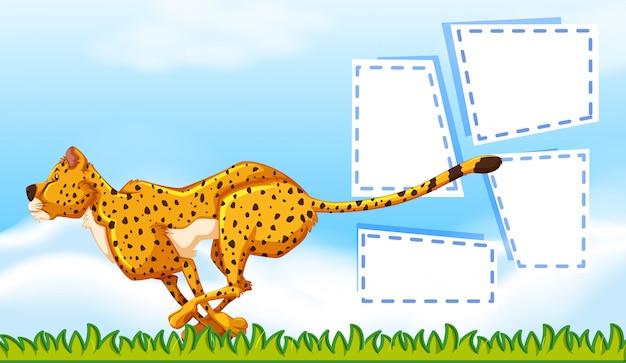 Modello di cornice ghepardo