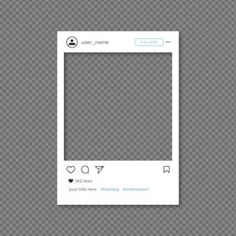 Modello di cornice instagram