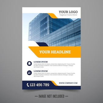 Modello di corporate flyer design