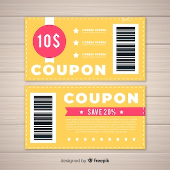 Modello di coupon creativo per le vendite