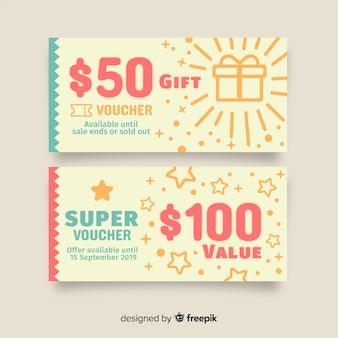 Modello di coupon creativo