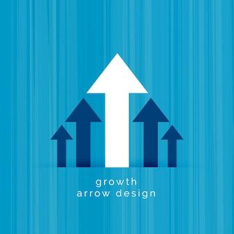 Modello di crescita del business freccia bianca leader