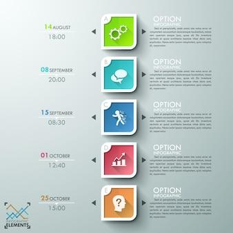 Modello di cronologia infografica moderna