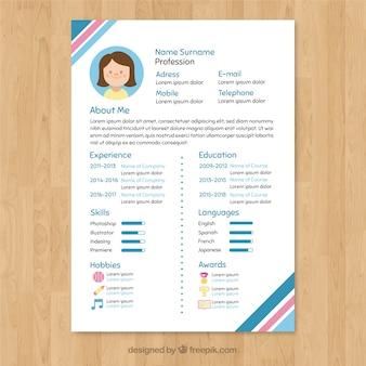Modello di curriculum colorato