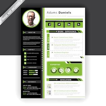 Modello di curriculum verde