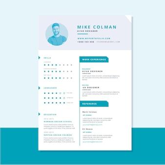 Modello di curriculum vitae moderno documenti