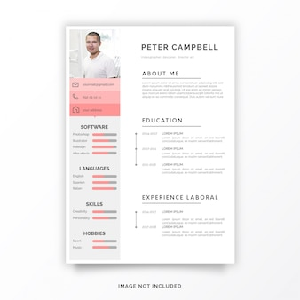Curriculum Creativo Template Free Download Scaricare Psd Gratis