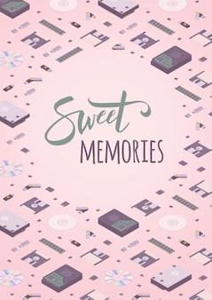 Modello di decorazione ricordi dolci