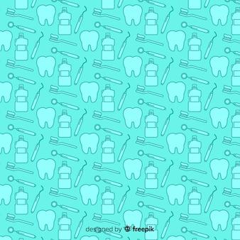Modello di dentista piatto