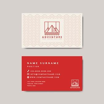 Modello di design biglietto da visita premium