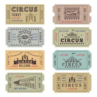 Modello di design dei biglietti del circo