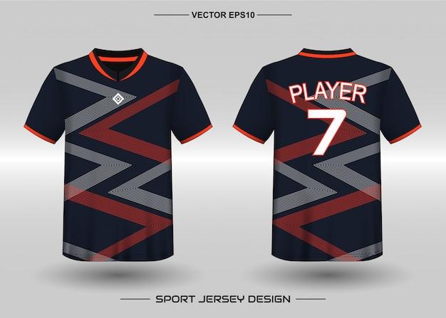 Modello di design della maglia sportiva per le divise della squadra