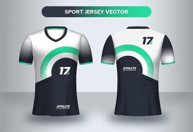 Modello di design di football jersey. corporate design, maglietta da calcio uniforme t-shirt davanti e dietro.